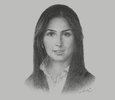 Sketch of Razan Khalifa Al Mubarak, Secretary-General, Environment Agency – Abu Dhabi