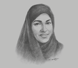 Sketch of Rauda Al Saadi, Director-General, Abu Dhabi Smart Solutions and Services Authority (ADSSSA)