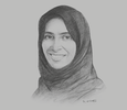 Sketch of Maryam Eid AlMheiri, CEO, Media Zone Authority – Abu Dhabi and twofour54