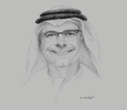 Sketch of Abdulhamid Mohammed Saeed, Group CEO, First Abu Dhabi Bank (FAB)