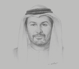 Sketch of Saif Mohamed Al Hajeri, Chairman, Abu Dhabi Department of Economic Development
