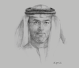 Sketch of Mugheer Khamis Al Khaili, Chairman, Department of Community Development (DCD)
