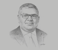 Sketch of Prabhash Subasinghe, Managing Director, Global Rubber