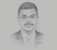Sketch of Arun Pathak, Managing Director, WelcomHotels Lanka