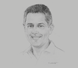Sketch of Hiran Cooray, Chairman, Jetwing Hotels
