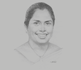 Sketch of Lakmini Wijesundera, CEO, IronOne Technologies