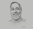 Sketch of Rajendra Theagarajah, Chairman, Ceylon Chamber of Commerce (CCC)