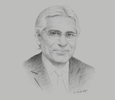 Sketch of Indrajit Coomaraswamy, Governor, Central Bank of Sri Lanka