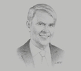 Sketch of  Richard O'Kennedy, Vice-President for Research, Development and Innovation (RDI), Qatar Foundation