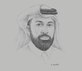 Sketch of Omar Ali Al Ansari, Secretary-General, Qatar Research, Development and Innovation (QRDI) Council