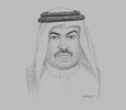 Sketch of Ali bin Ahmed Al Kuwari, Minister of Commerce and Industry
