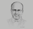 Sketch of Raghavan Seetharaman, CEO, Doha Bank