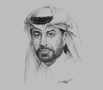 Sketch of Rashid bin Ali Al Mansoori, CEO, Qatar Stock Exchange