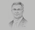 Sketch of Andreas Schwer, CEO, Saudi Arabian Military Industries