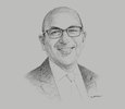 Sketch of Wadih AbouNasr, Head of Tax, KPMG KSA Levant Cluster