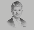 Sketch of Søren Nikolajsen, Managing Director, Alawwal Bank