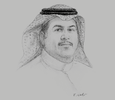 Sketch of Khalid Al Hussan, CEO, Saudi Stock Exchange (Tadawul)