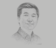 Sketch of William Tanuwijaya, CEO and Founder, Tokopedia