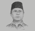 Sketch of Rudiantara, Minister of Communication and Information Technology