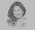 Sketch of Shirley Tan, CEO, Rajawali Property Group