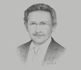 Sketch of Tarek Tawfik, President, American Chamber of Commerce in Egypt