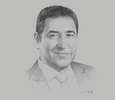 Sketch of Hisham Ezz Al Arab, Chairman, Federation of Egyptian Banks and Commercial International Bank