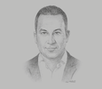 Sketch of Mohamed El Kalla, CEO, Cairo for Investment and Real Estate Development
