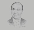 Sketch of Mohab Mameesh, Chairman, Suez Canal Authority (SCA); and Chairman, Suez Canal Economic Zone (SC Zone)