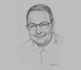 Sketch of Mark Cutifani, Chief Executive, Anglo American