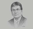 Sketch of Guido Valdivia, Executive Director, Peruvian Chamber of Construction (Cámara Peruana de la Construcción, CAPECO)