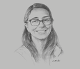 Sketch of Mariana Costa, CEO and Co-founder, Laboratoria