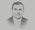 Sketch of Carlos Oliva, Minister of Economy and Finance