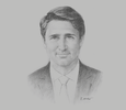 Sketch of Justin Trudeau, Prime Minister of Canada