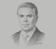Sketch of President Iván Duque