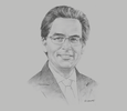 Sketch of Alberto Carrasquilla, Minister of Finance and Public Credit