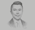 Sketch of Kevin Tan, CEO, Alliance Global Group