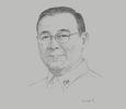 Sketch of Teodoro L Locsin, Secretary of Foreign Affairs