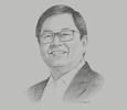 Sketch of Cezar Consing, President, Bank of the Philippine Islands