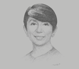 Sketch of Lynette Ortiz, CEO, Standard Chartered Bank Philippines