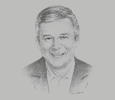 Sketch of John Murphy, CFO and Former President for Asia Pacific, Coca- Cola Company