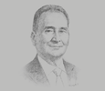 Sketch of Gerard Brimo, Chairman and CEO, Nickel Asia Corporation; and Chairman, Chamber of Mines
