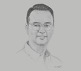 Sketch of Alan Peter Cayetano, Chairman, Philippines South-East Asian (SEA) Games Organising Committee