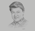 Sketch of Henry Lim Bon Liong, Chairman and CEO, SL Agritech