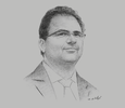 Sketch of Zied Ladhari, Minister of Development, Investment and International Cooperation