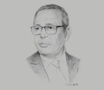 Sketch of Samir Majoul, President, Tunisian Union of Industry, Trade and Handicrafts