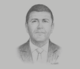 Sketch of Abdelbasset Ghanmi, General Manager, Foreign Investment Promotion Agency