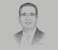 Sketch of Habib Ben Hassine, President, Tunisian Federation of Insurance Companies