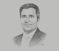 Sketch of Anouar Maârouf, Minister of Communication Technologies and Digital Economy