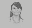 Sketch of Amel Hachani, General Manager, Tunisian National Tourism Office