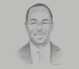 Sketch of Moustapha Magumu, Principal Coordinator for the Pacific Region, European Commission